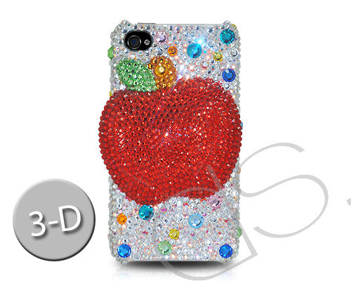 Apple 3D Bling Crystal iPhone 7 Cases - Silver