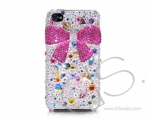 Brisk Bow 3D Bling Crystal iPhone 7 Cases - Pink