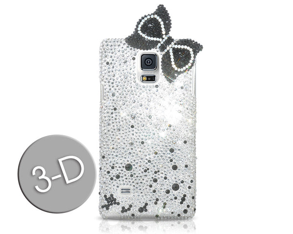 Scattered Bow Swarovski Crystal Galaxy S7 Phone Cases - Black
