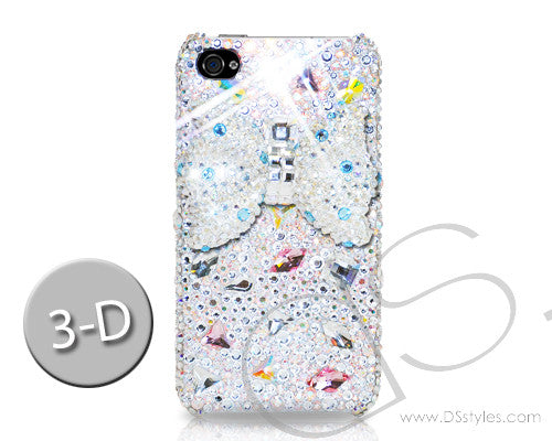 Meso-Ribbon 3D Bling Crystal iPhone 6 Cases - White