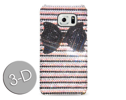 Stripe Bow 3D Bling Swarovski Crystal Galaxy S7 Phone Cases