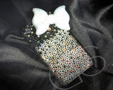 Ribbon Gradation 3D Bling Swarovski Crystal Galaxy S7 Phone Cases - White