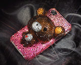Bear 3D Bling Crystal iPhone 7 Cases - Brown