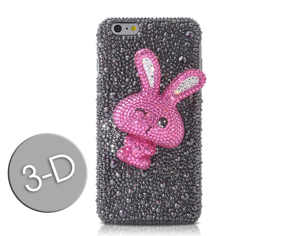 Rabbit 3D Bling Crystal Galaxy S7 Phone Cases - Black