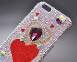 Fancy Love Bling Crystal iPhone 7 Plus Cases - Red