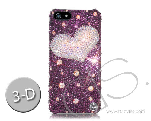 Fancy Love Bling Crystal iPhone 7 Plus Cases - Purple