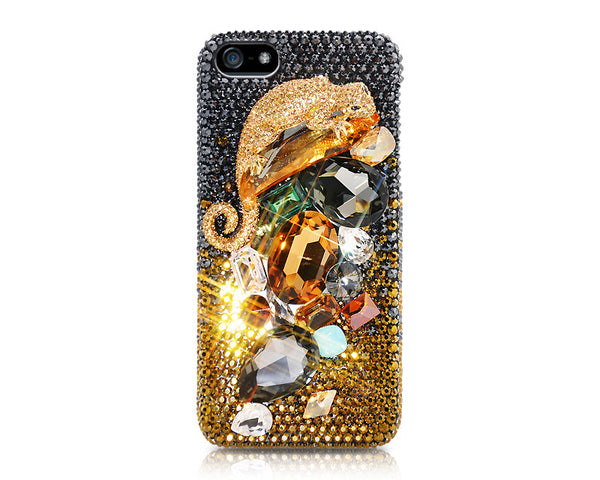 Golden Lizard 3D Bling Crystal iPhone 6S Plus Cases