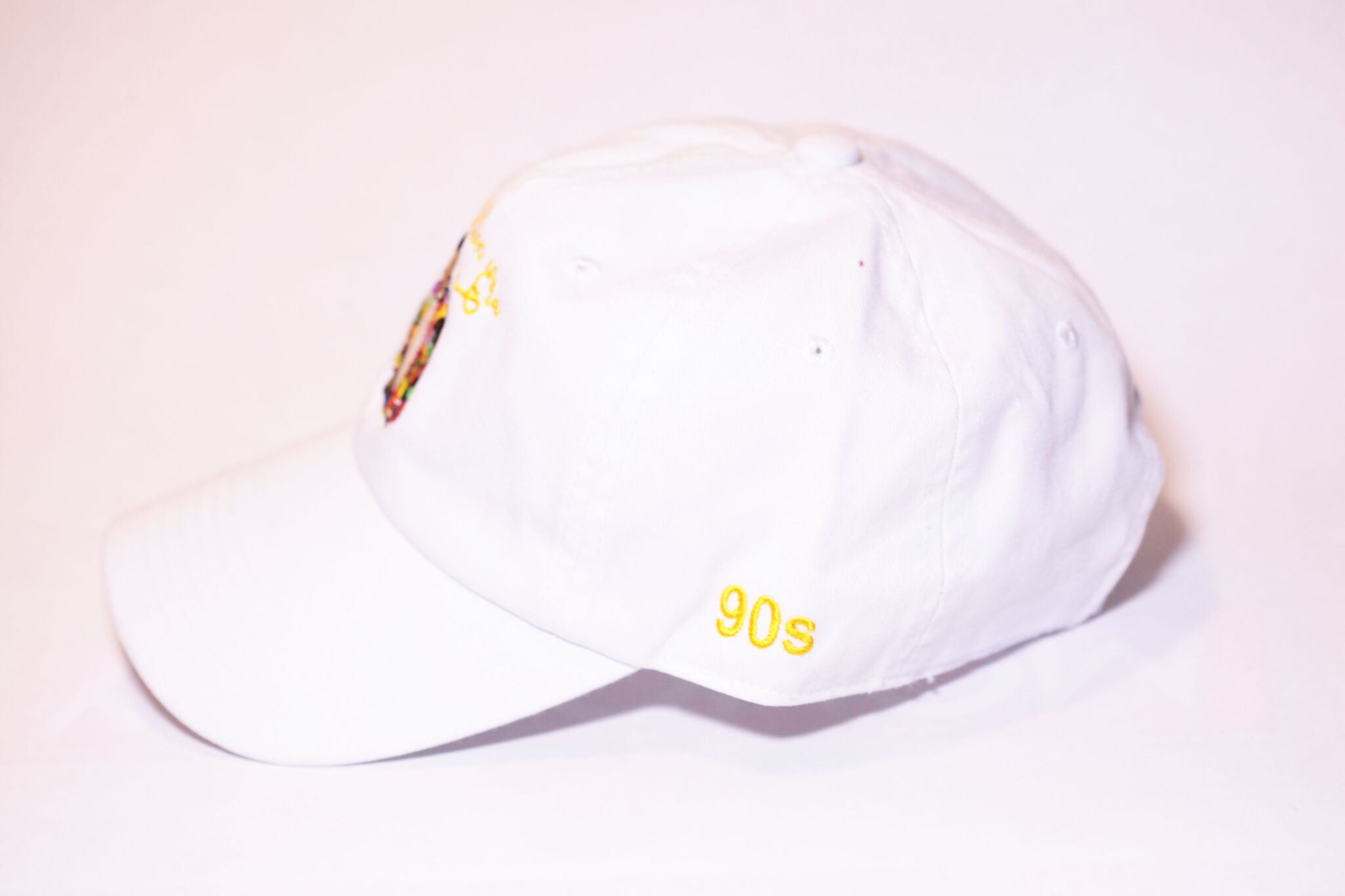White Fresh Unstructured Dad Hat