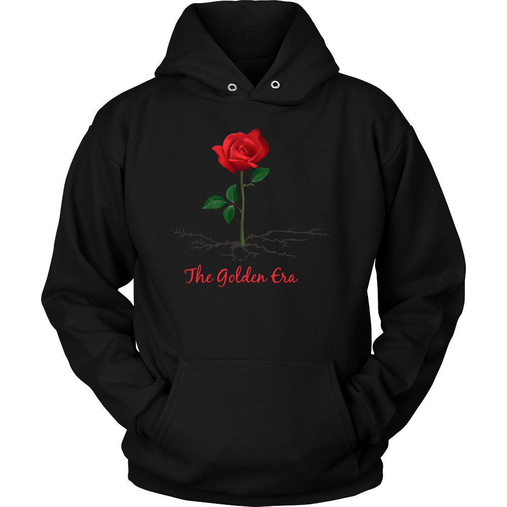 Black The Rose That Grew From Concrete Unisex Hoodie