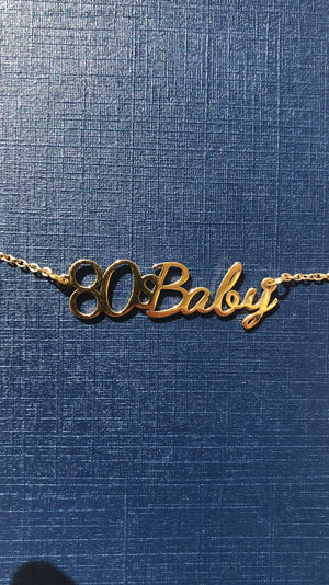 80's Baby Rose Gold Necklace