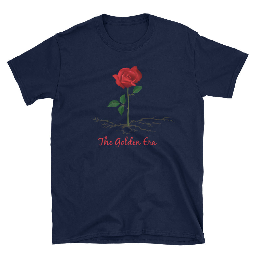 Navy The Rose That Grew From Concrete Short-Sleeve Unisex T-Shirt