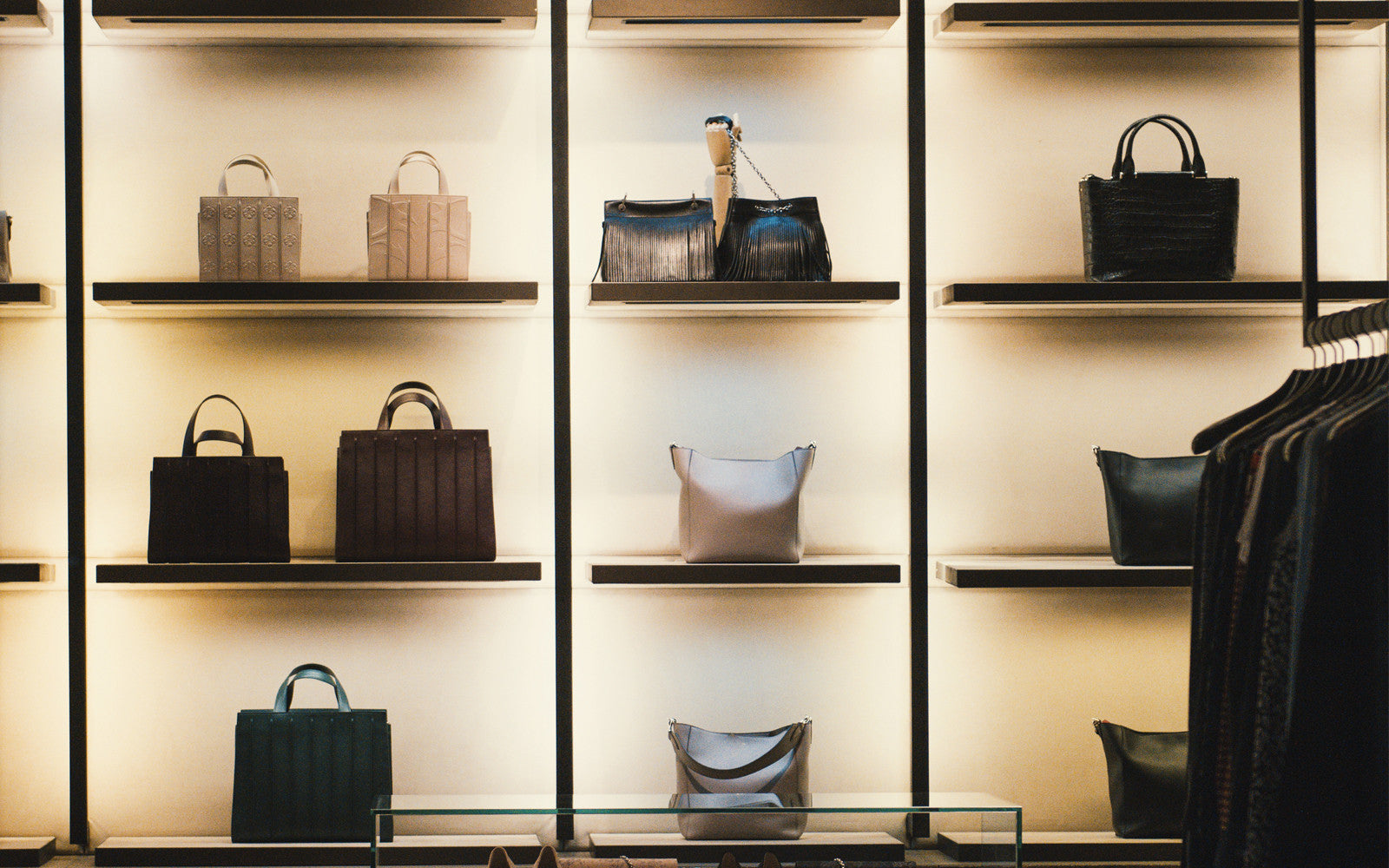 The array of gorgeous handbags