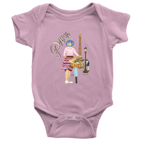 0587130ca 'Paris' Baby Onesie **with an original illustration by me!**