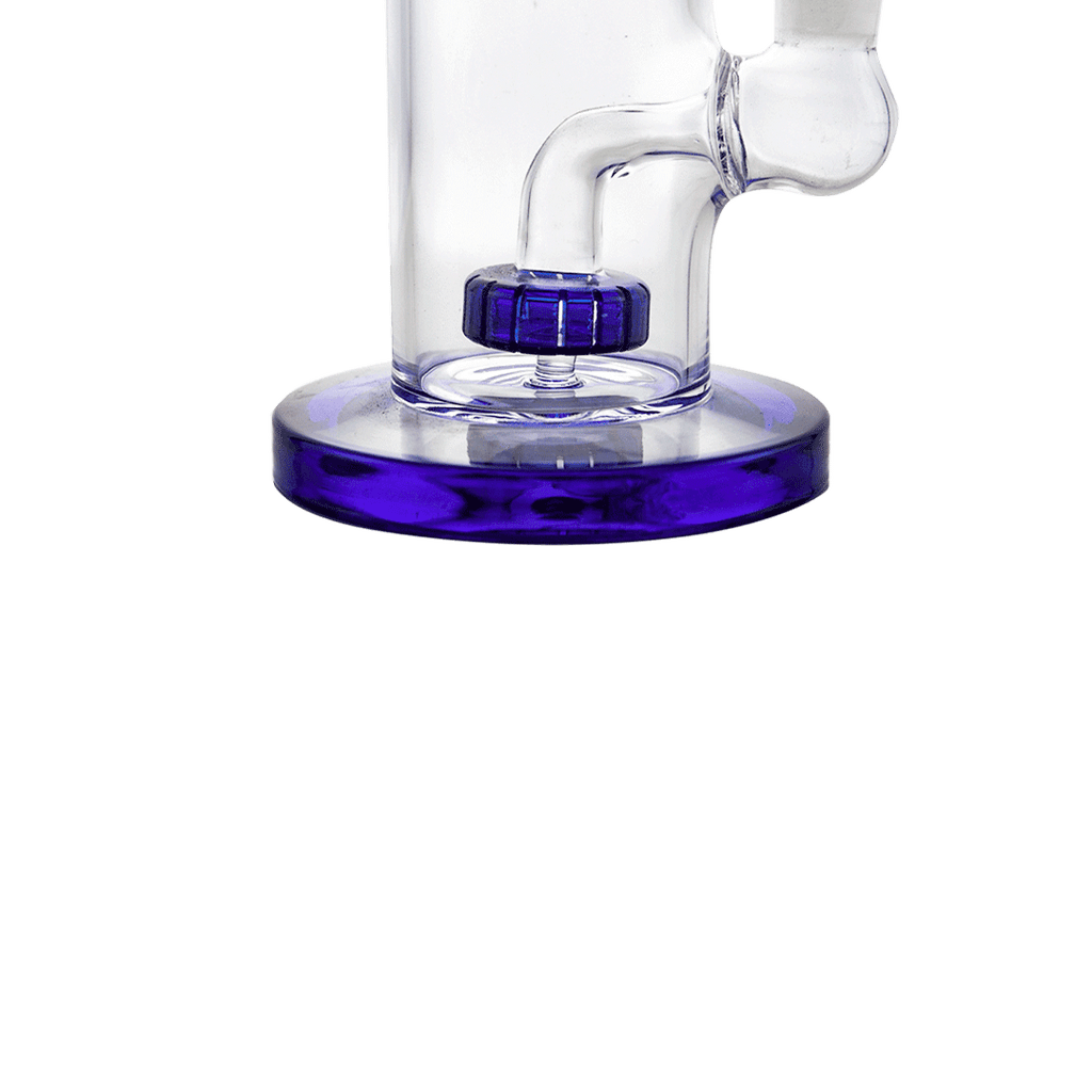 "11"" Broad Based Crystal Shower perc  Bong and Dab Rig"