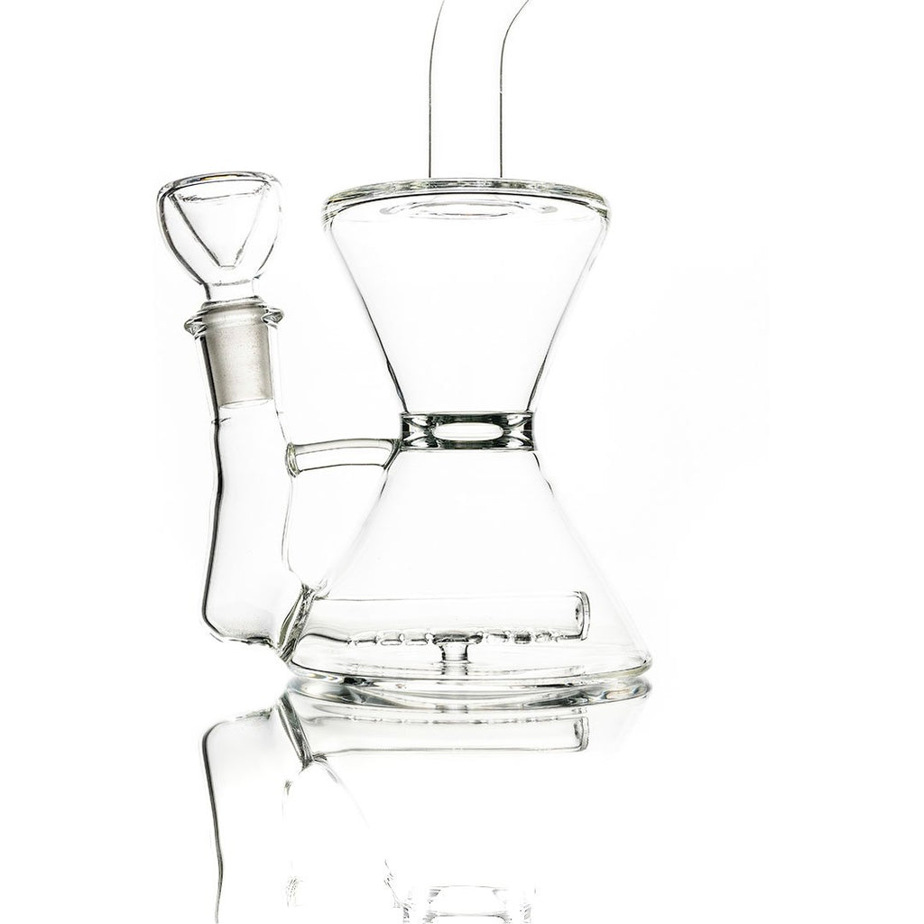 "9"" Clear Straight Line Perc Water pipe or Rig"