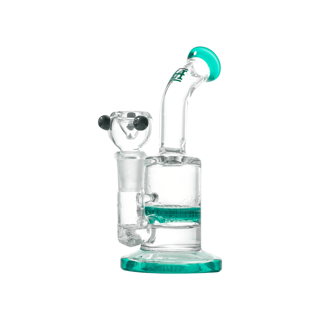 "6"" Green Crystal Honeycomb Water Pipe or Dab Rig"