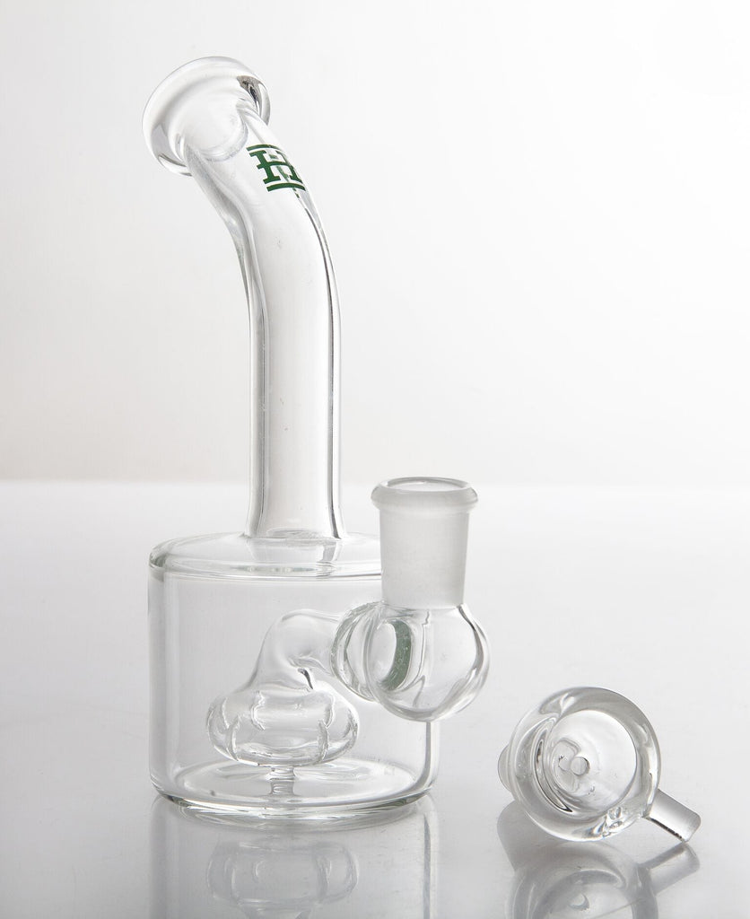 Hemper Water Pipe (Puck) Glass Pipe with Percolator