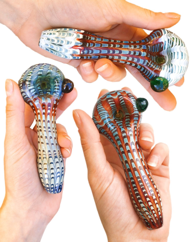 "4"" One-Of-A-Kind Luxury Glass Pipe"