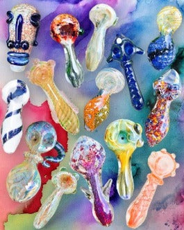 Luxury Wholesale Glass Pipes Package: (10+ Units) <br> $350-$3500 MSRP Value