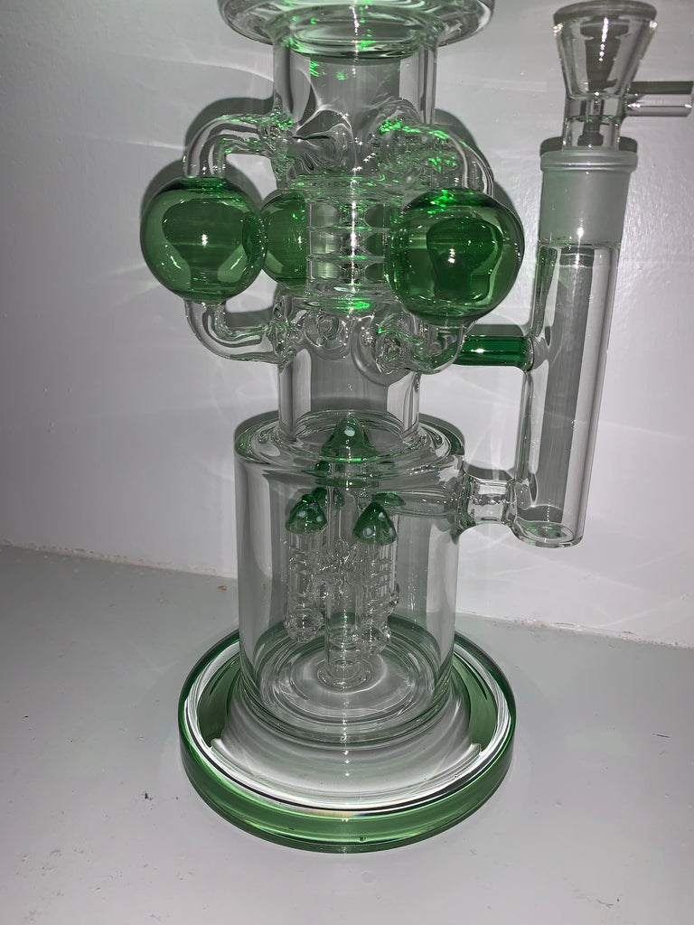 "19"" MASSIVE Quad Orbital Chambered Bong with Rocket Percolator"