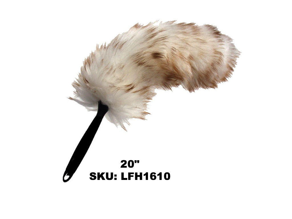 Lambswool duster with flexible head