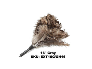 "16"" ostrich Feather duster head that attaches to pole"