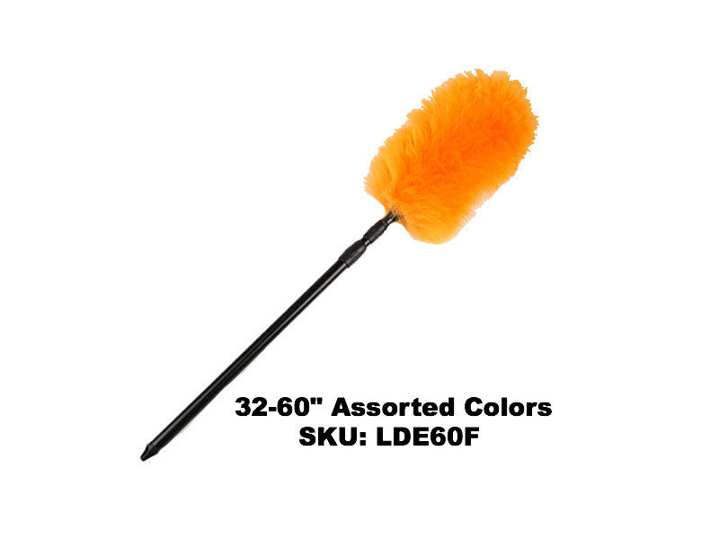 "Flexible Lambswool Duster Double Telescopic 32-60"" - Rainbow Dusters"