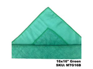 Microfiber Terry Glass Cloth Green - Rainbow Dusters