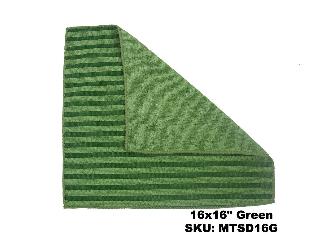 Microfiber Terry Scrubbing Cloth Green  - Rainbow Dusters