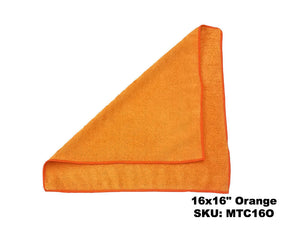Microfiber Orange Terry Cloths - Rainbow Dusters