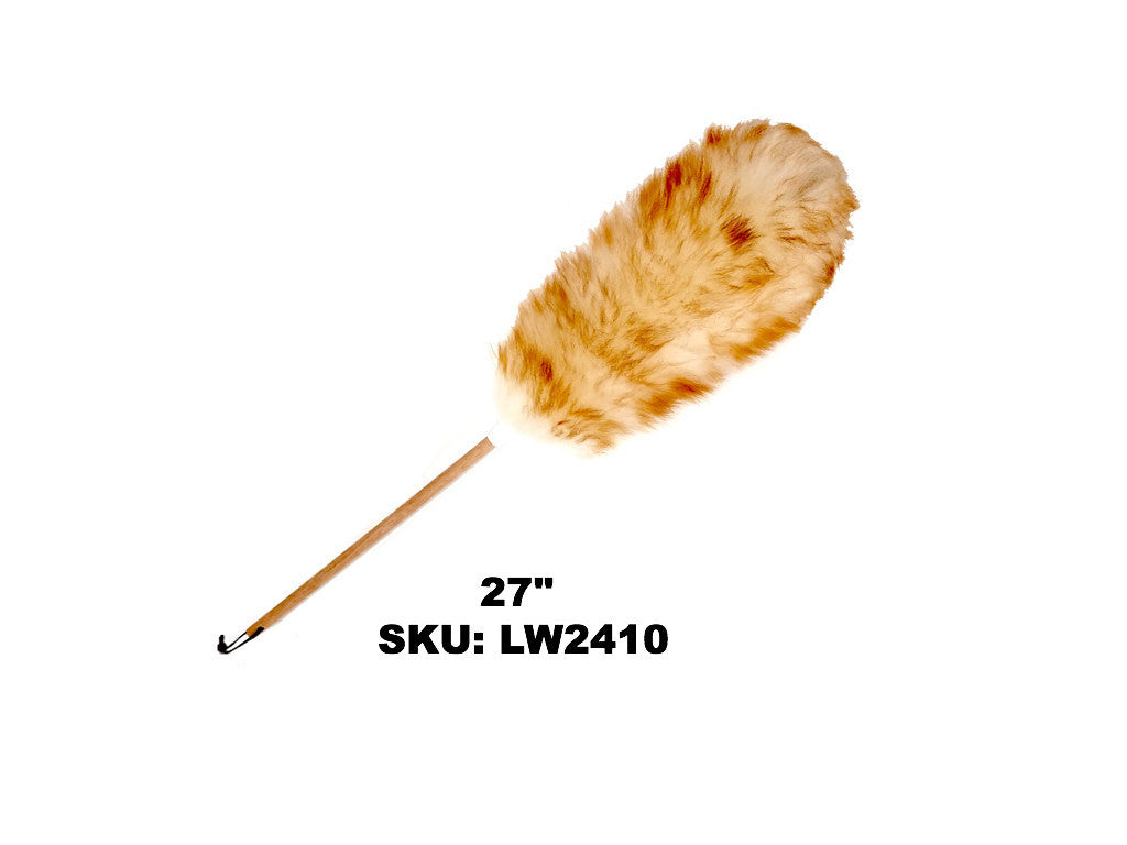 Premium Lambswool Duster - Wooden Handle- 27""