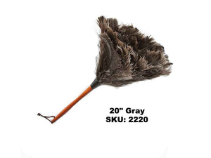 "20"" Premium Grey Ostrich Feather Duster"