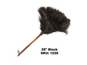 "28"" Premium Black Ostrich Feather Duster"