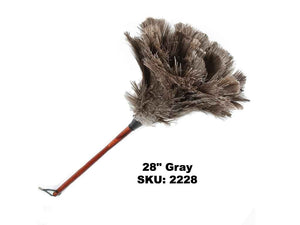 "28"" Premium Grey Ostrich Feather Duster"