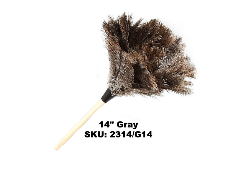 "14"" Standard Gray Ostrich Feather Dusters"