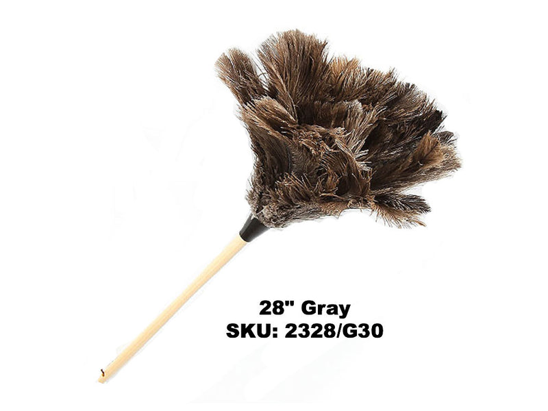 "28"" Standard Gray Ostrich Feather Dusters"