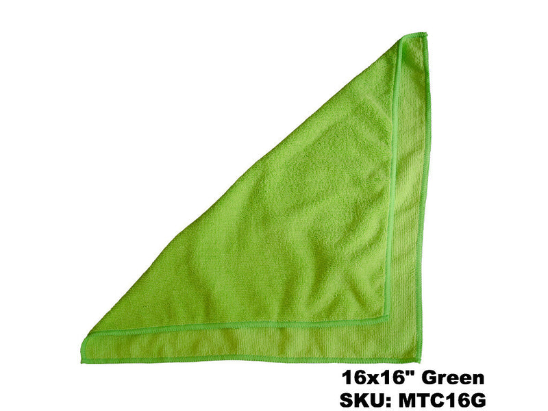 Microfiber Green Terry Cloths - Rainbow Dusters