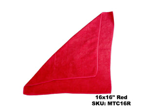 Microfiber Red Terry Cloths - Rainbow Dusters