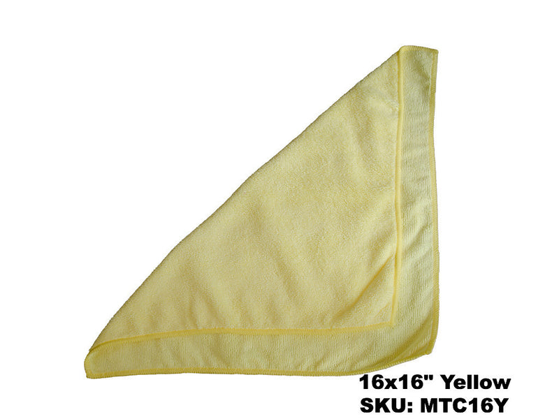 Microfiber Yellow Terry Cloths - Rainbow Dusters