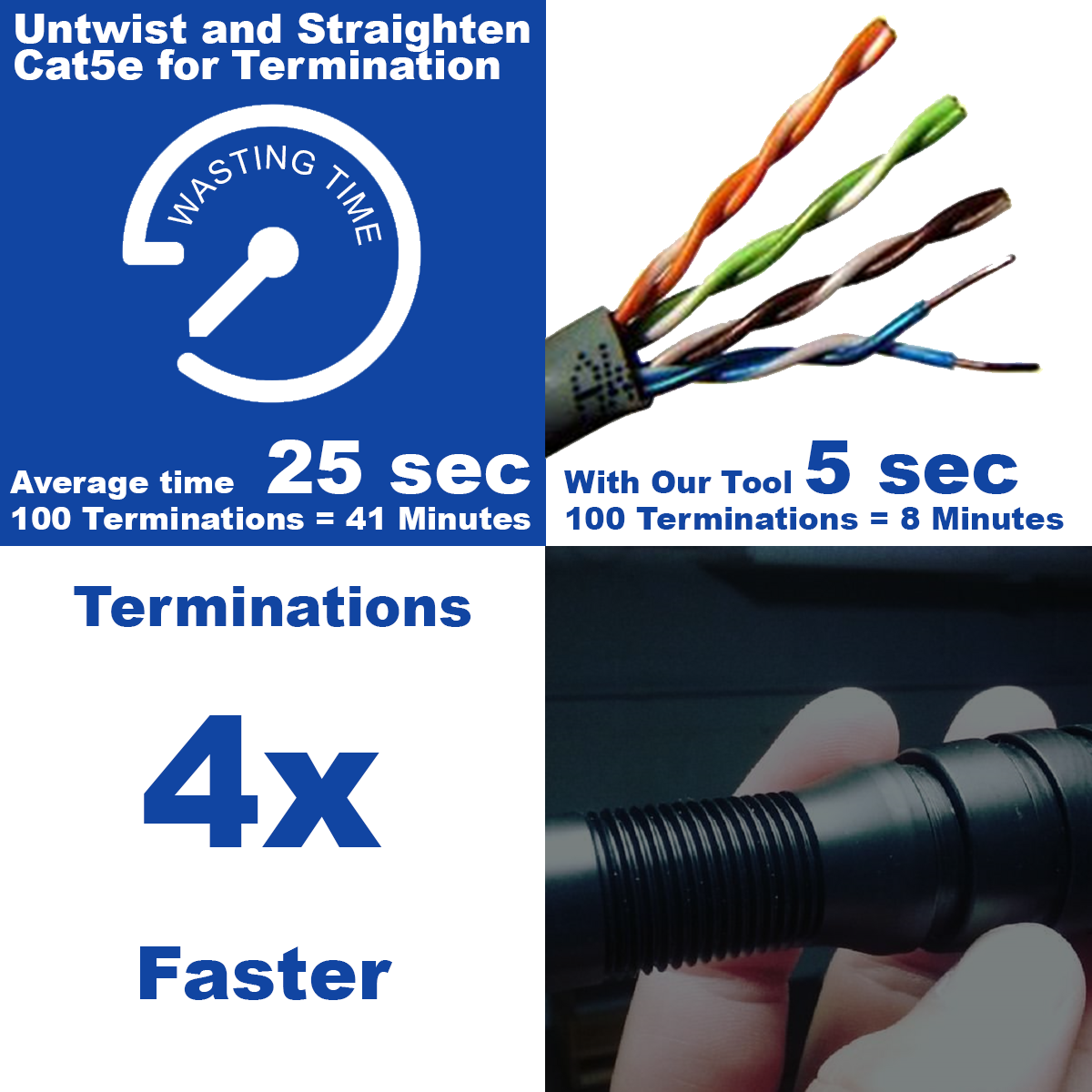 CAT5e Ethernet Pair Straightener Tool (In Stock - Selling Fast) - Hadley Tools