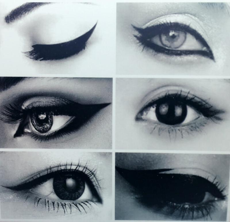6 IN 1 Stencil Eyeliner Template