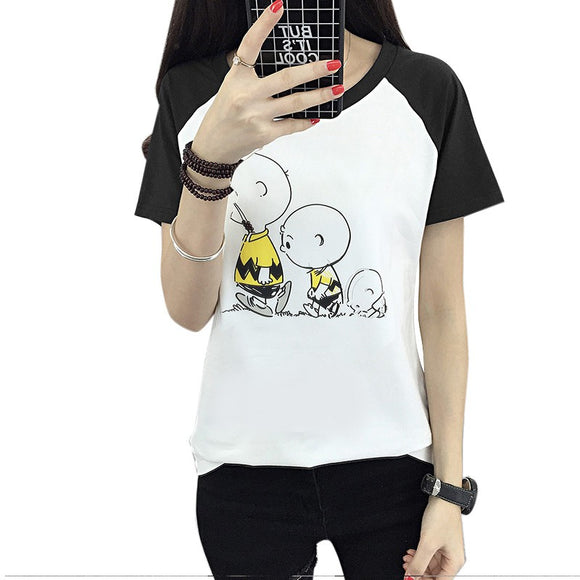 100% Jersey Cotton Cartoon T-Shirt for Women