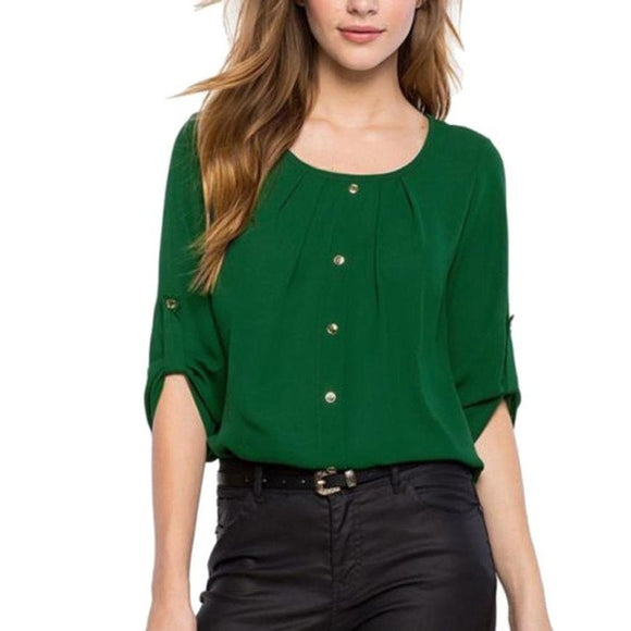 Chiffon Blouse for Summer with Long Sleeve