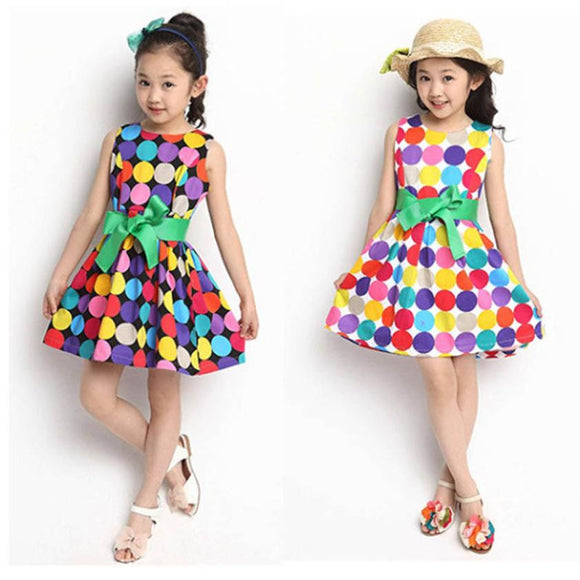 Summer Girls Swing Dress for Kids