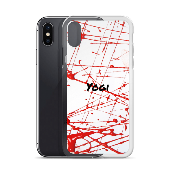 Yogi Yoga iPhone Case: Red Line