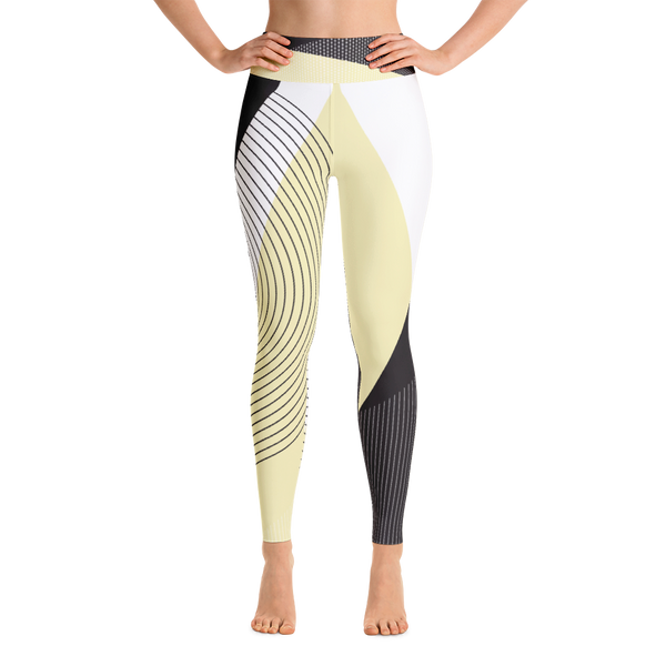 Yogi Yoga Pants: Yellow Squared