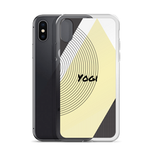 Yogi Yoga iPhone Case: Yellow Squared