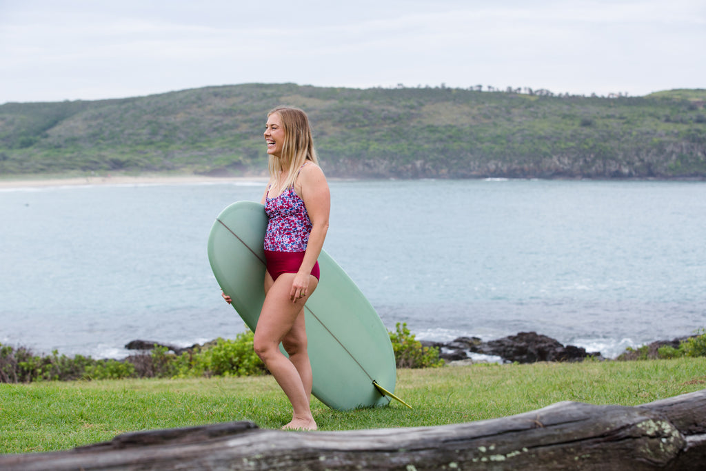Indigo and Salt womens surf sustainable swim summer 2018 campaign salstore salt gypsy lemon spicy bombshell bay sea swim may and hugo surfsuits bikinis one piece shop online