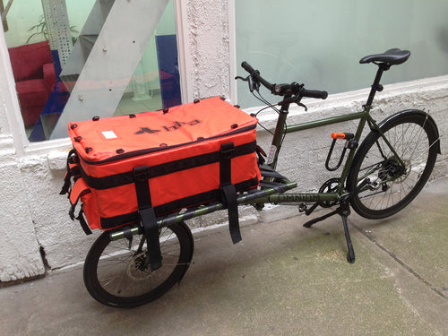 Cargo Bag for transportsykkel 100L Oransje