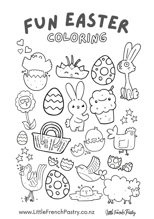 Easter Colouring Contest Sheet